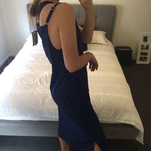 ASOS Navy Blue Midi Dress