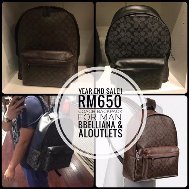 Authentic Coach Backpack for Men