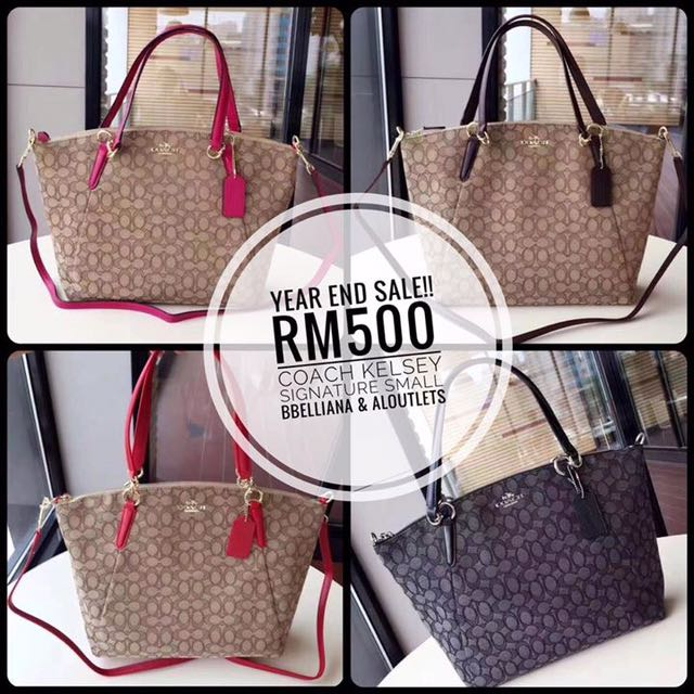 Authentic Coach Kelsey Signature Small