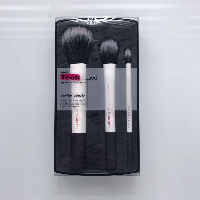 Authentic Real Techniques Duo Fiber Makeup Brushes