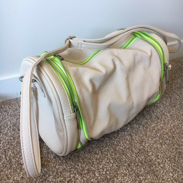 BCBG Generation 2 in 1 Cream And Neon Coloured Bag