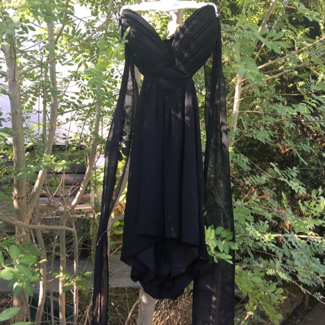Black Ice Backless Dress