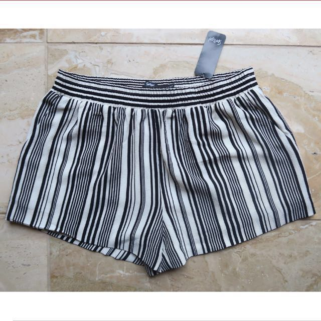 BNWT Sports Girl Stripe Black & White Shorts