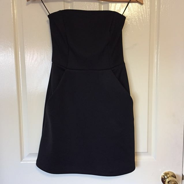 Brand new black strapless dress