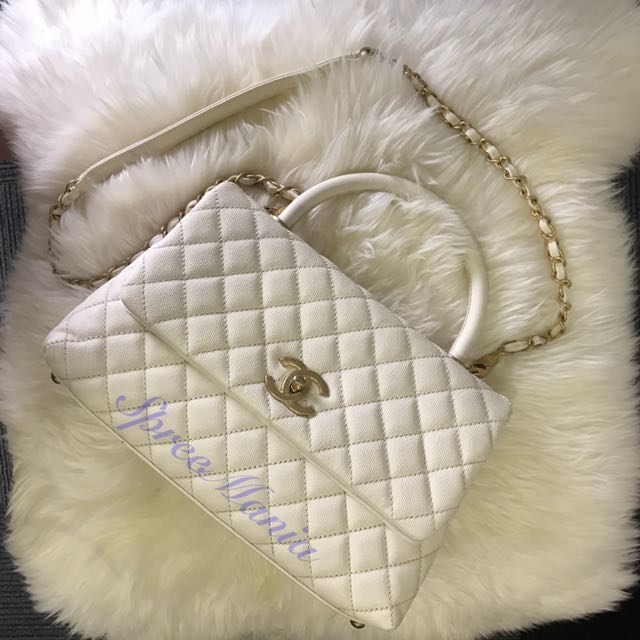 50990d51722d Brand New Chanel Coco Handle Small White
