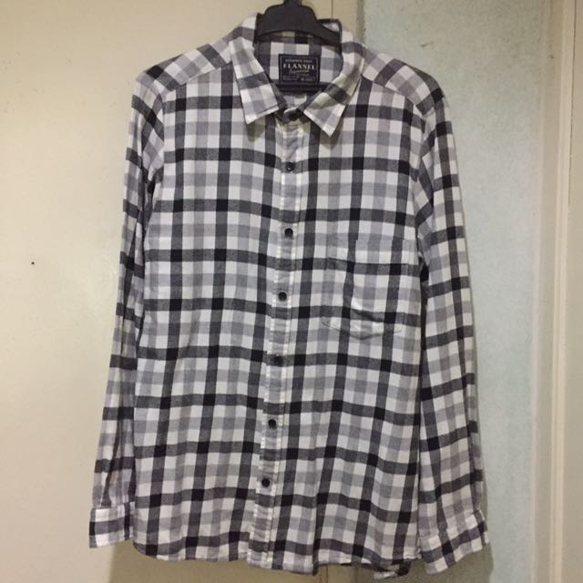 3 Button Downs Flannel Uniqlo Tommy Ralph Lauren Fred Perry