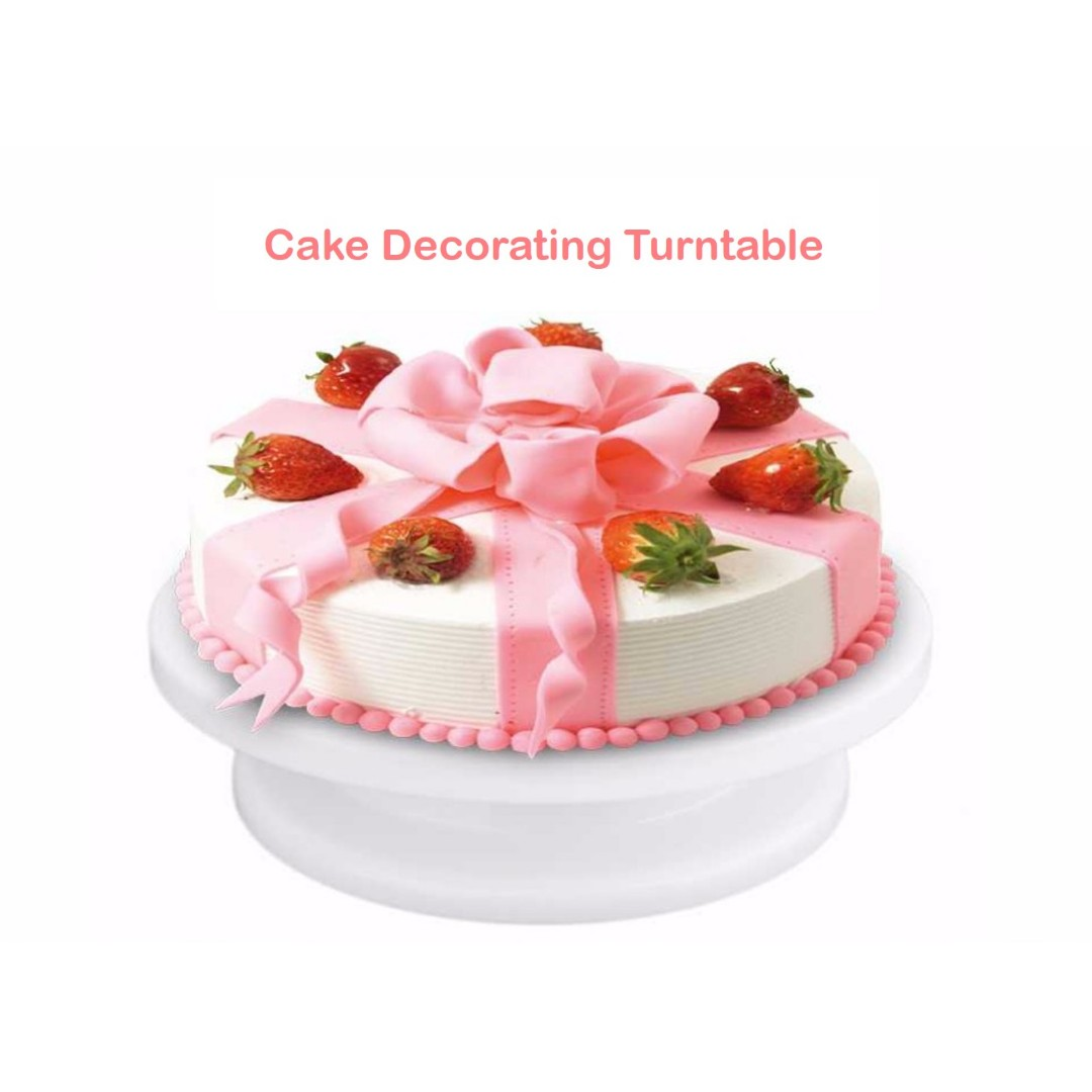 Best Seller] Cake Decorating Icing Rotating Turntable Cake Stand ...