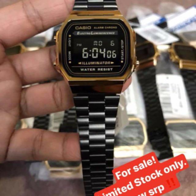 Casio watch (black&gold)