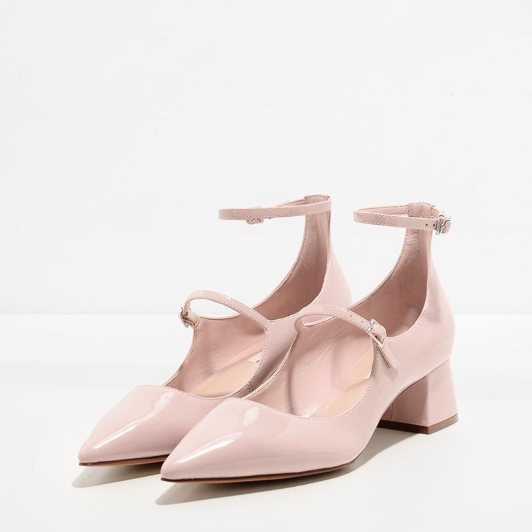 Charles & Keith Pointed Mary-Jane Pumps