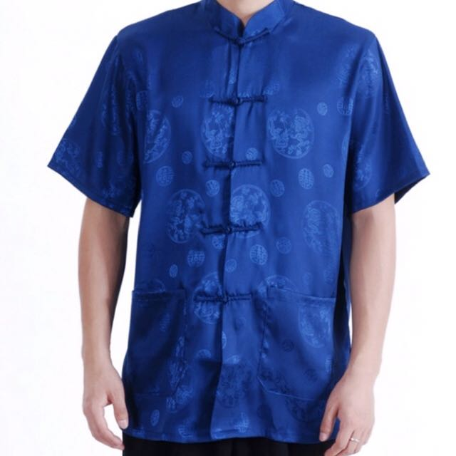 Chinese traditional men costume - Short sleeve