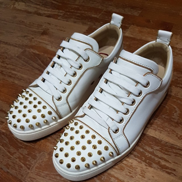 pretty nice 42395 d0796 Christian Louboutin Rush Spiked Leather Low cut Sneaker ...