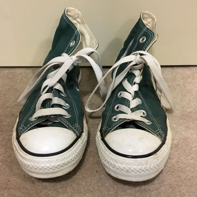 Converse high tops dark green