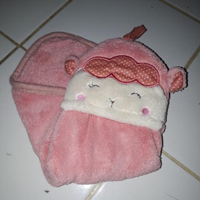 Miniso Cute hand towel pink