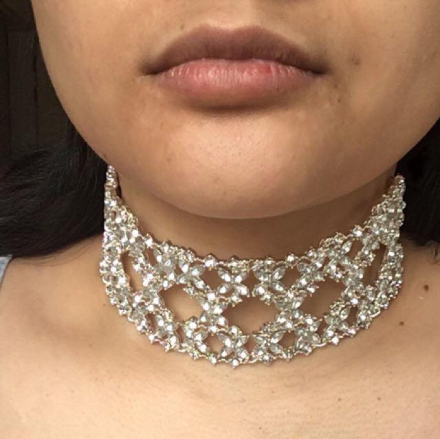 Diamond silver choker Primark