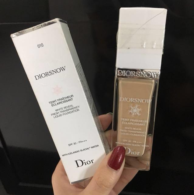Dior Snow Foundation 010 Authentic