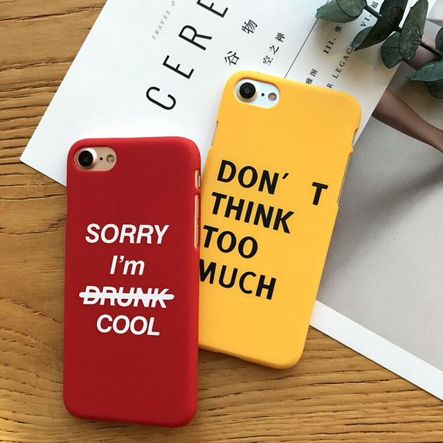 Dont think too much Iphone Case