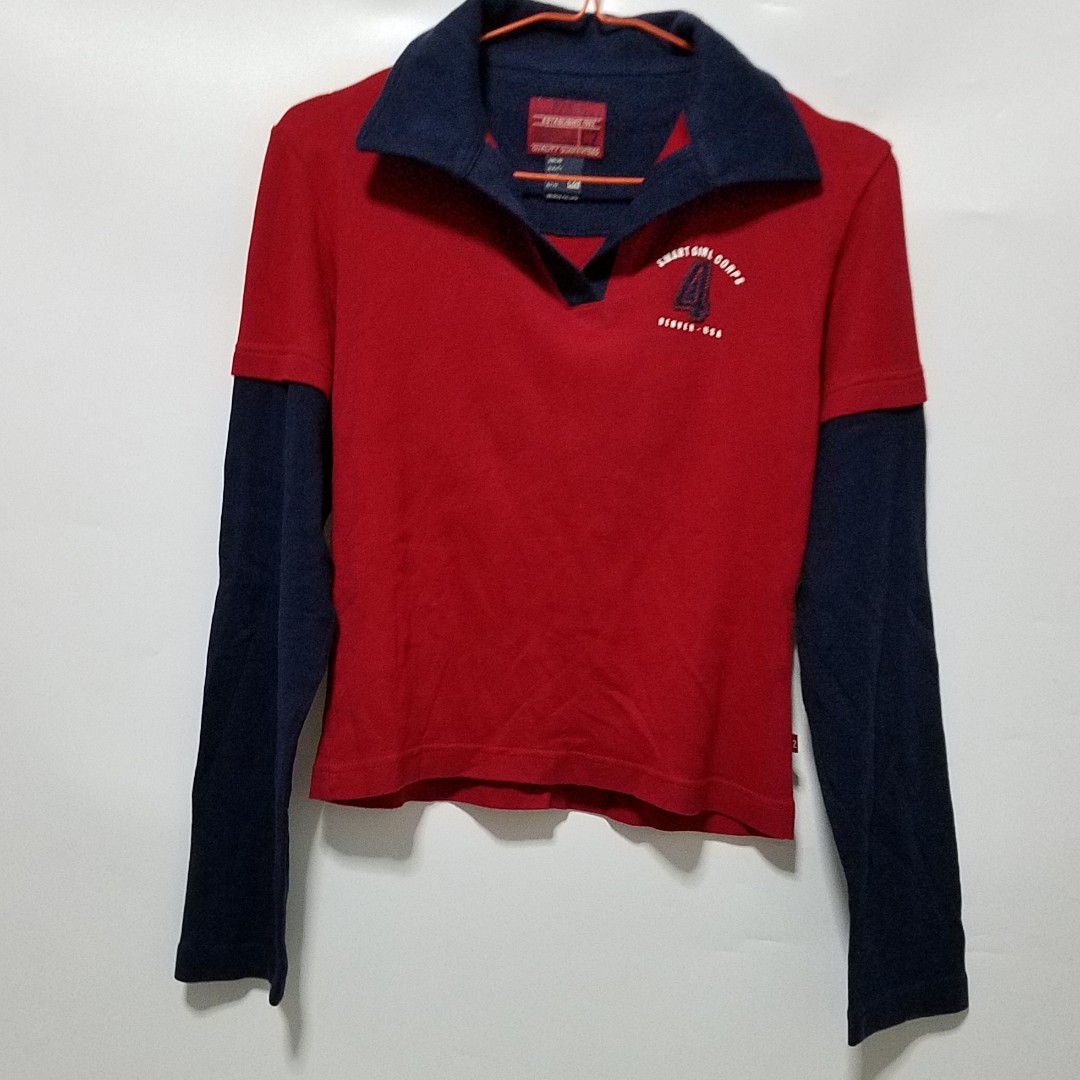 Double sleeves blue red