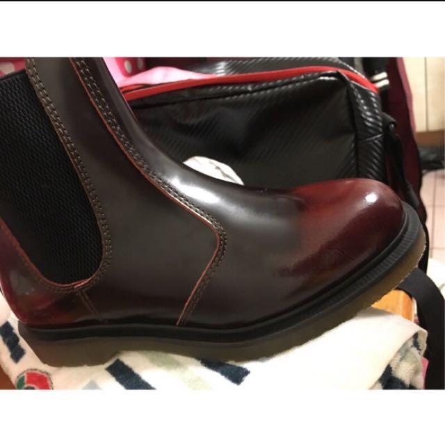 Dr Martin 酒紅靴