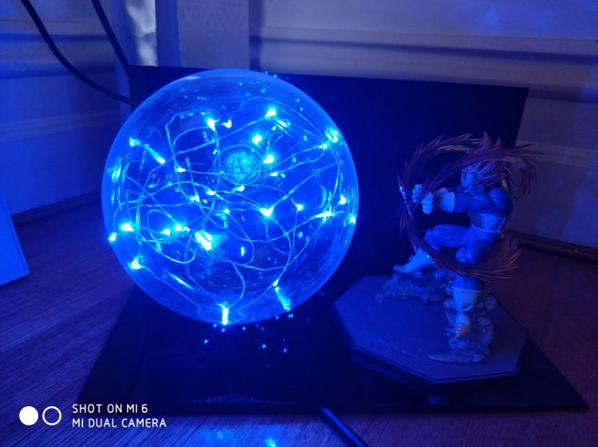 Dragon Ball Z Vegeta lamp figurine light up