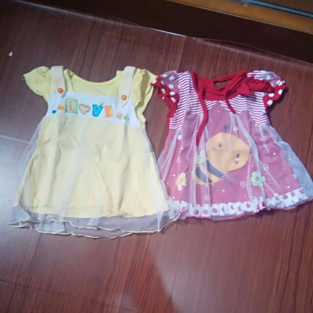 dress bayi 2 pcs 35 rb aja