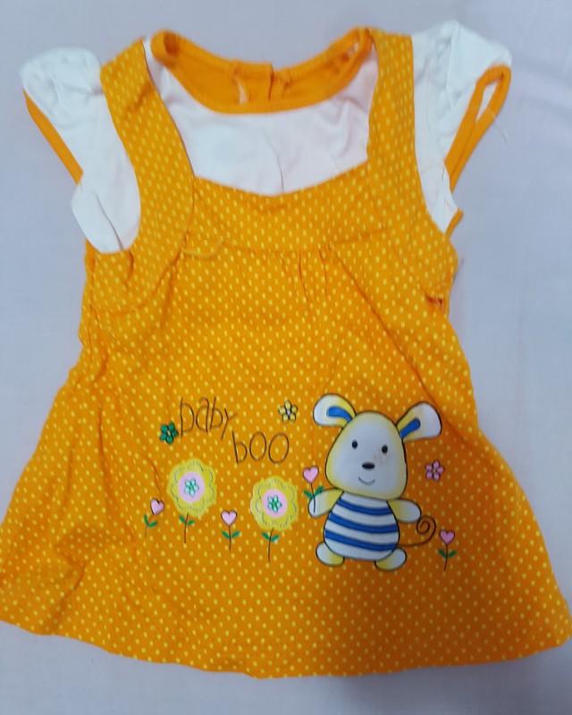 Dress bayi orange