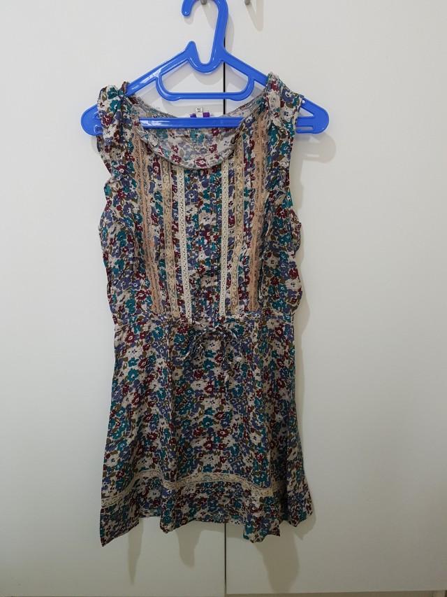 Dress bunga cantik