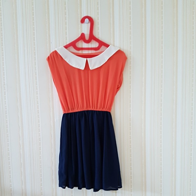 Dress mix color .LD 38cm.panjang  76cm