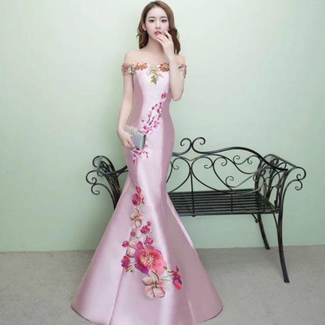 Embroidered dinner dress