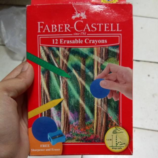 Faber-castell erasable crayons 12