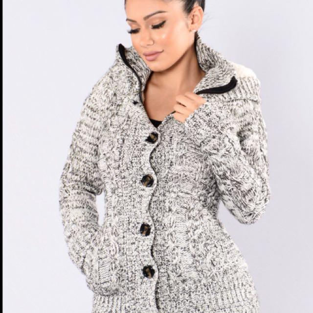 Fashion Nova Sweater Jacket