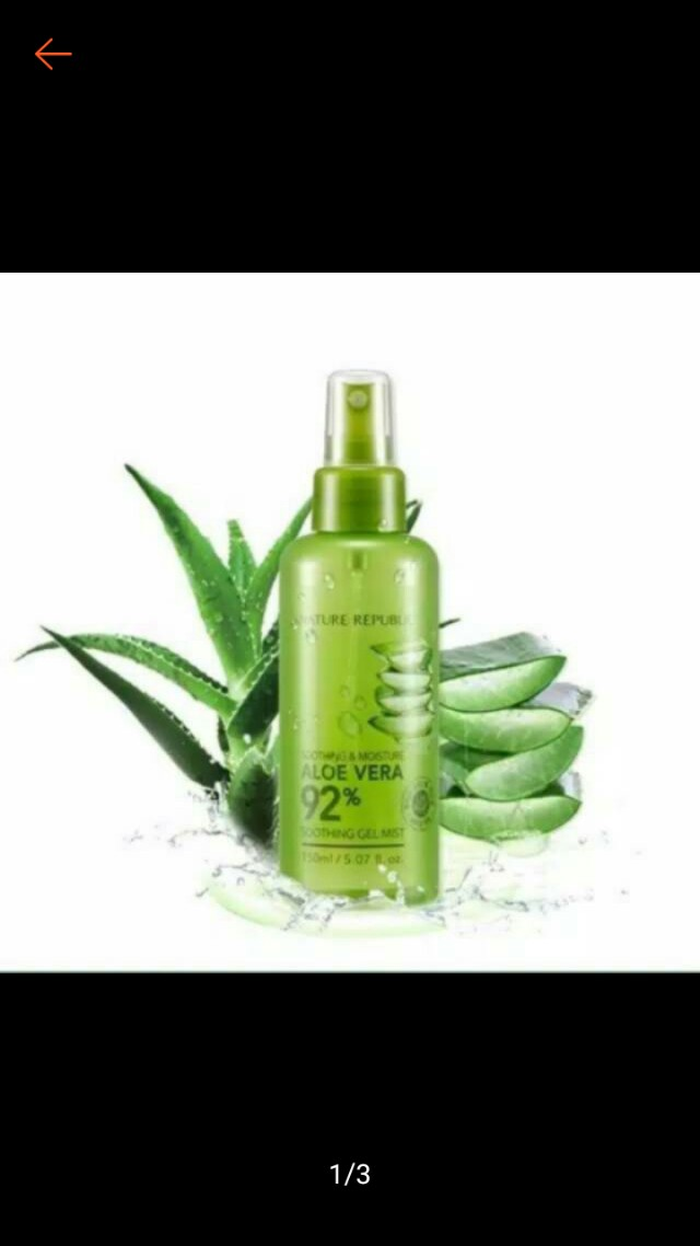Free Ongkir!! Nature Republic Soothing & Moisture Aloe Vera 92% Soothing Gel Mist 150ml