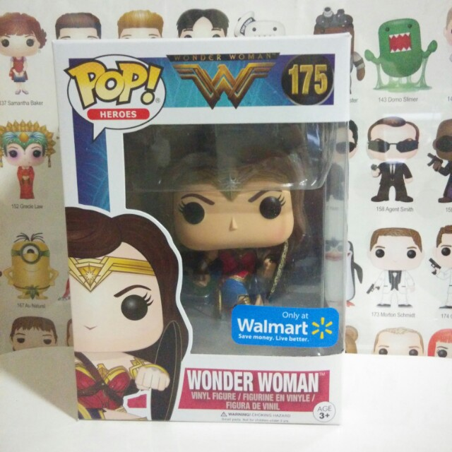 Funko Pop Wonder Woman With Shield Walmart Exclusive Vinyl Figure Collectible Toy Gift Movie Comic DC Super Hero Justice League