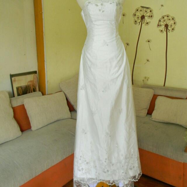 Gaun Wedding Gaun Prewed Simpel