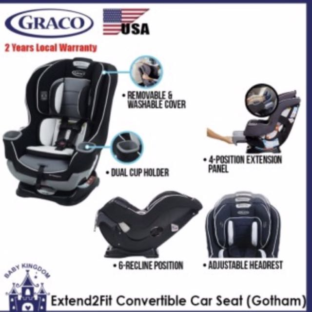 Graco Extend2Fit Convertible Car Seat Gotham Accessories On Carousell