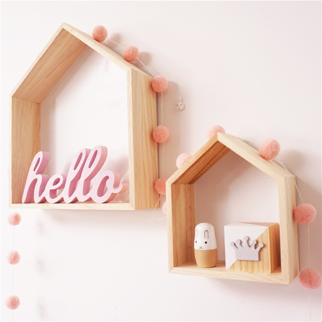 HELLO Romantic Rustic Wooden Pink Sign