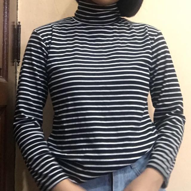 High neck long sleeve