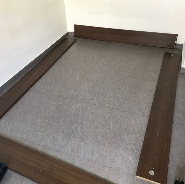 Ikea Engan Bed Frame And Queen Sized Mattress Furniture Beds