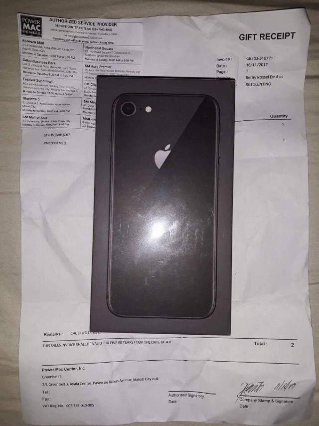 Iphone 8 64gb space grey FU bnew