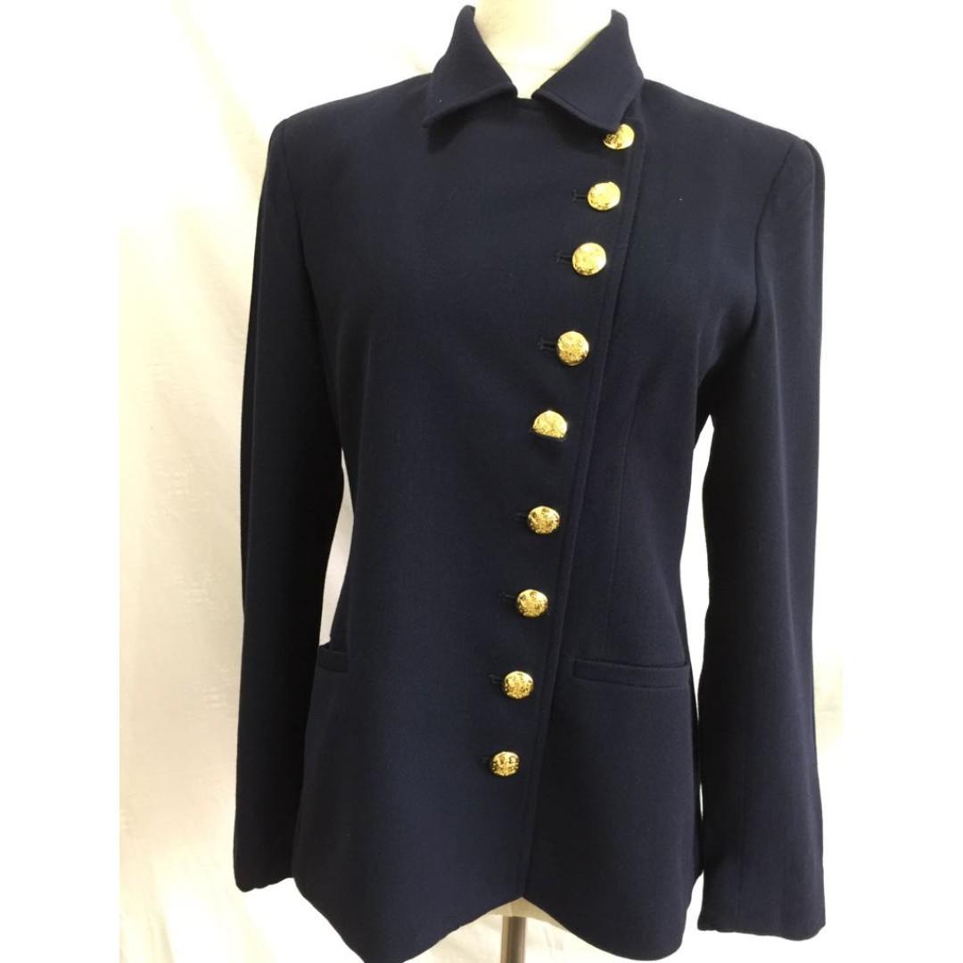 Blue ButtonsNavy Jacket StyleGold Polo Ralph LaurenMilitary jLRcq543A