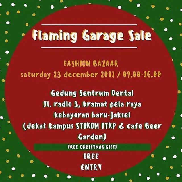 Jangan lupa dateng ke acara garage sale!!
