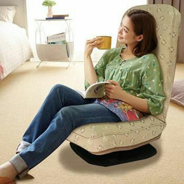 含運出清 KOTAS 尊爵轉盤和室椅低腳旋轉 多段式椅背 時尚金色