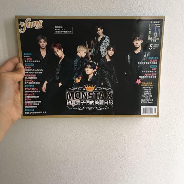 K-pop magazine - Monsta X, EXID, Gfriend,Block B, BTS FAN ART, etc