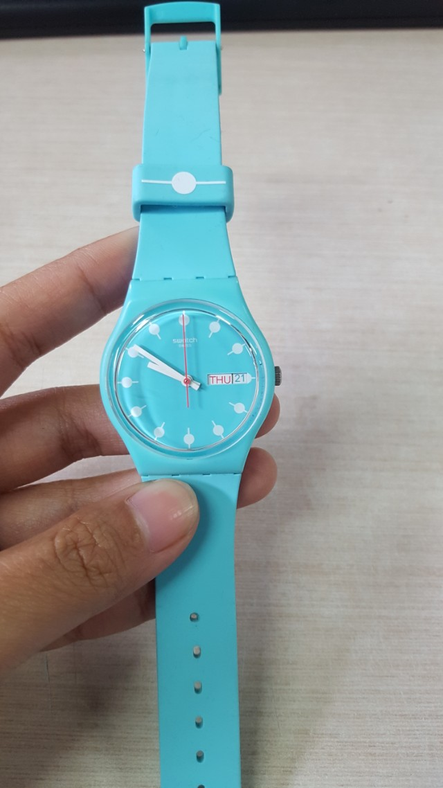 Light Blue Swatch (Jam Tangan Swatch)