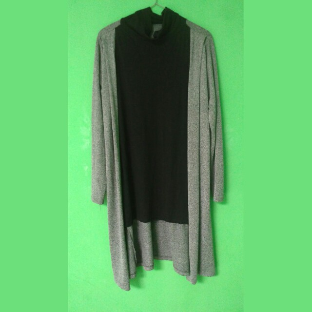 Long cardigan with iner