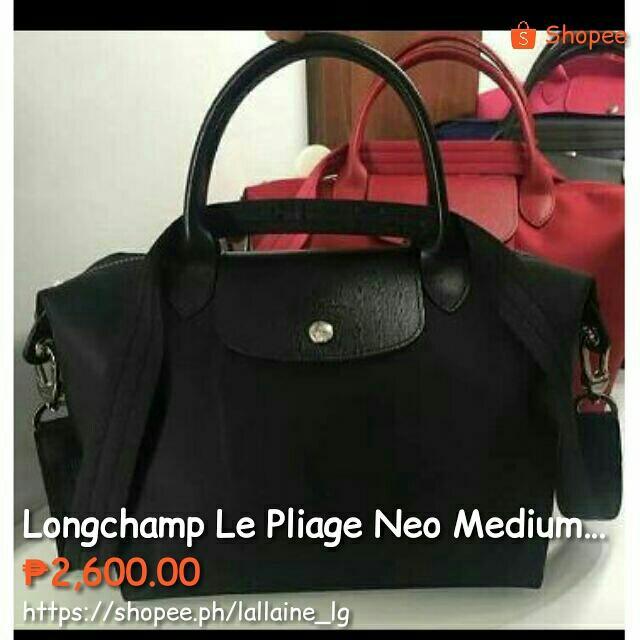Longchamp Le Pliage Neo Medium Black 058257c6bd5