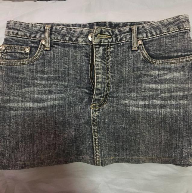 Maong/denim mini skirt