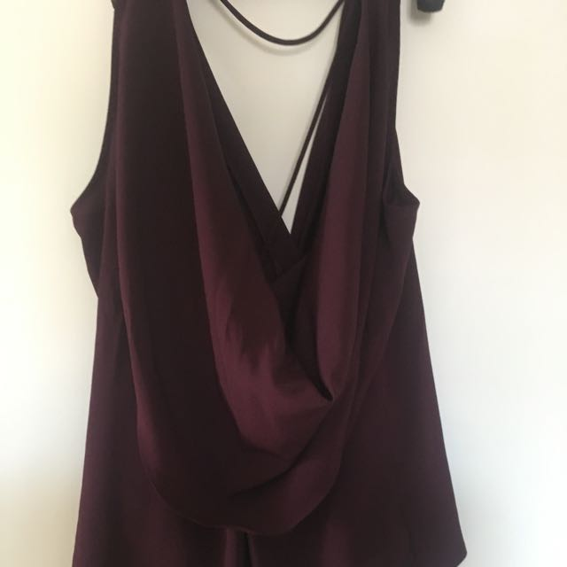 Sheike Maroon Cowl Neck Top #15FLASHSALE
