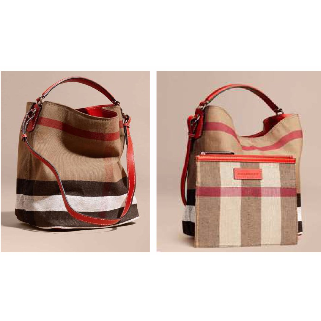 4433266e1fc5 Burberry- Medium Ashby in Canvas Check and Leather