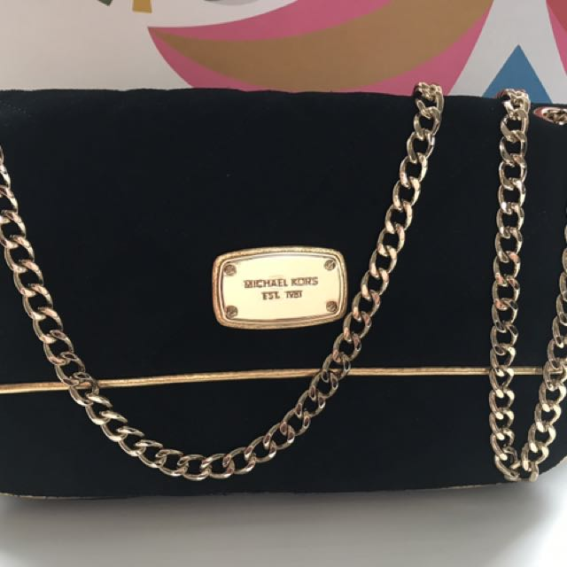 Michael Kors Black Suede Purse (BNWT)