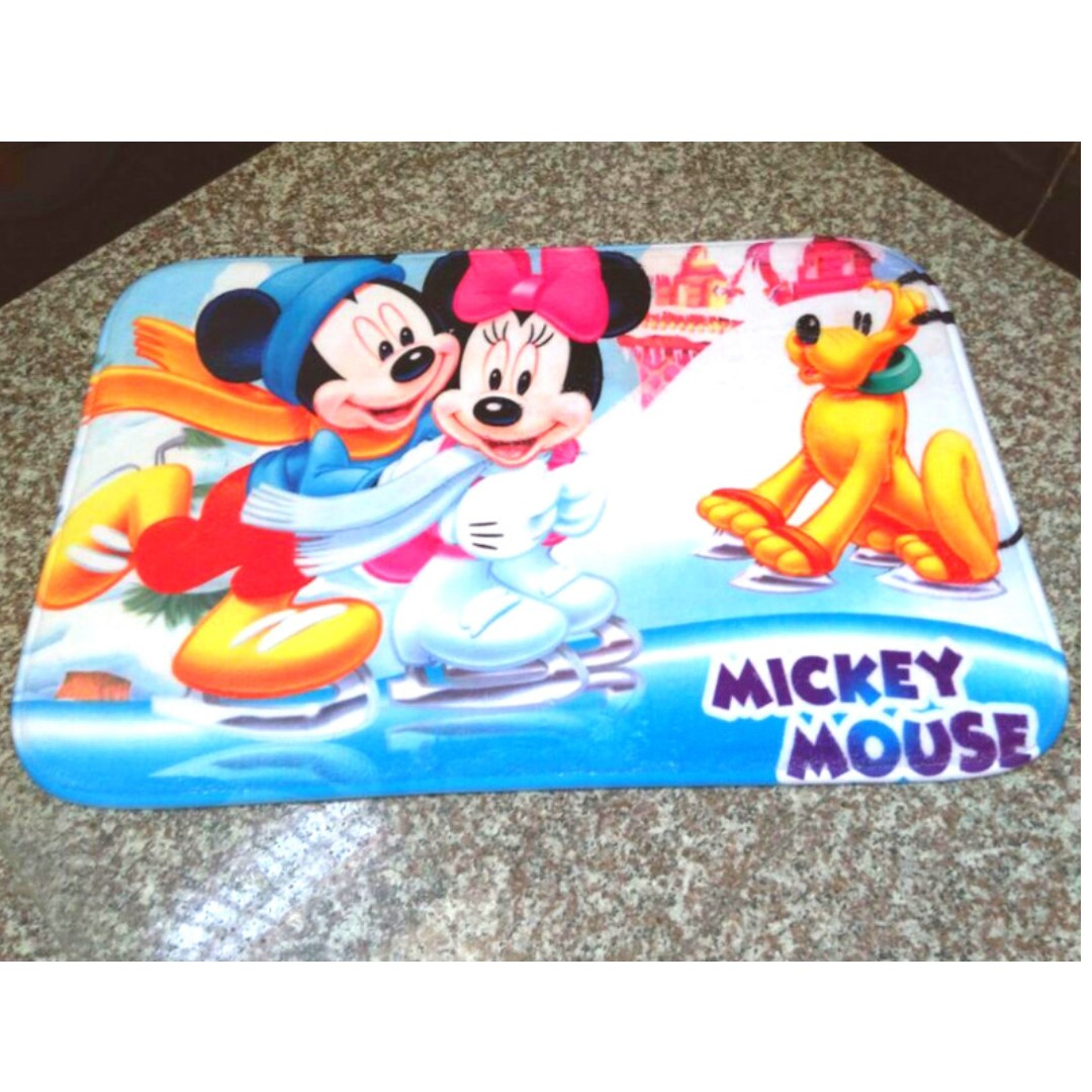 mickey mouse carpet / mat, furniture, others on carousell